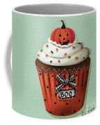 Halloween Pumpkin Cupcake Coffee Mug by Catherine Holman