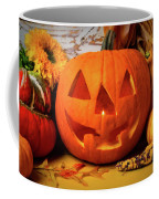Halloween Pumpkin Smiling Coffee Mug