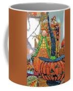 Halloween Scarecrow And Pumpkin Pa 02 Vertical Coffee Mug