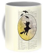 Witch Flying With Full Moon Coffee Mug