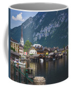 Hallstatt Lakeside Village In Austria Coffee Mug by Andy Konieczny