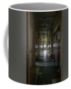 Hallway With Solitary Confinement Cells In Prison Hospital Coffee Mug