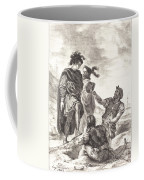 Hamlet And Horatio Before The Gravediggers (act V, Scene I) Coffee Mug
