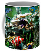 Hammerhead Shark Swimming Through New Abstract Coral Coffee Mug