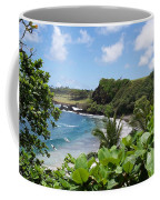 Hamoa Beach Tropical Hana Maui Hawaii Waves And Surfers Coffee Mug