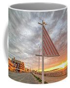 Hampton Beach Sunrise Hampton Beach State Park Hampton Nh Flag Coffee Mug