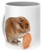 Hamster Eating A Carrot  Coffee Mug
