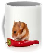 Hamster Eating A Red Hot Pepper Coffee Mug