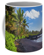 Hana Bay Palms Coffee Mug by Inge Johnsson