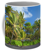 Hana Palm Tree Grove Coffee Mug by Inge Johnsson