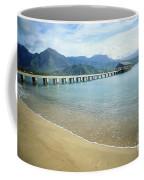 Hanalei Bay And Pier Coffee Mug