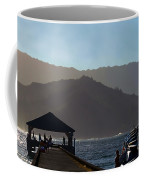 Hanalei Pier In Kauai Coffee Mug