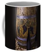 Hand Carved Wine Barrel Coffee Mug