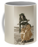 Hand Colored Hula Coffee Mug