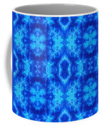 Hand-dyed Blue And Turquoise Fabric With Zig Zag Stitch Details  Coffee Mug