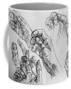 Hands With Line Pen Coffee Mug