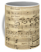 Handwritten Score For Hjertets Melodier, Opus 5 Coffee Mug