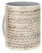 Handwritten Score For Waltz For Piano, Opus 39 Coffee Mug
