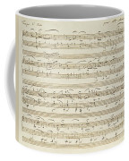 Handwritten Score For Waltz In Flat Major Coffee Mug