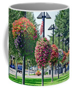 Hanging Flower Baskets In A Park Coffee Mug