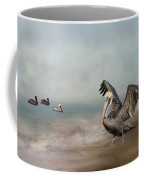 Hanging Out Along The Shore Coffee Mug by Kim Hojnacki