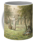 Hanging Out The Laundry By Jean-francois Millet Coffee Mug
