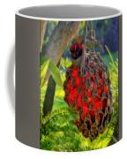 Hanging Red Bottle Garden Art Coffee Mug