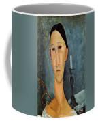 Hanka Zborowska With A Candlestick Coffee Mug by Amedeo Modigliani