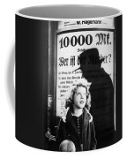 Hanna Maron And The Shadow Of Peter Lorre In M  1931 Coffee Mug