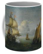 Hans Goderis Dutch Shipping At Sea, 1615 Coffee Mug
