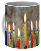 Hanukkah Menorah With Burning Candles Coffee Mug