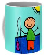 Happi Arte 2 - Boy Fish Art Coffee Mug