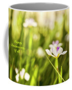 Happy Anniversary African Iris Coffee Mug