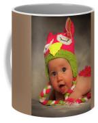 Happy Baby In A Woollen Hat Coffee Mug