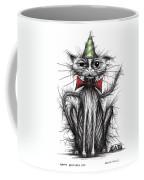 Happy Birthday Cat Coffee Mug