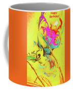 Happy Birthday Lilac Breasted Roller Abstract Coffee Mug