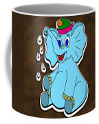 Happy Blue Elephant Gingerbread Coffee Mug