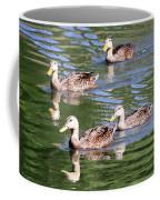 Happy Ducks On The Pond Coffee Mug