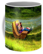 Young Family Enjoying The Swiss Country Side Coffee Mug