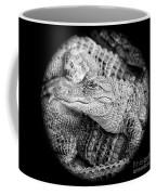Happy Gator Black And White Coffee Mug
