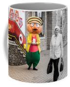 Happy Hamster And Od Woman Colour Art Coffee Mug
