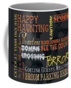 Happy Haunting Typography Coffee Mug