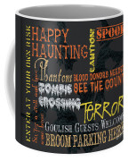 Happy Haunting Typography Coffee Mug