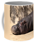 Happy Hippo Coffee Mug by Laurie Lundquist