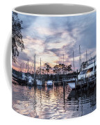 Happy Hour Sunset At Bluewater Bay Marina, Florida Coffee Mug