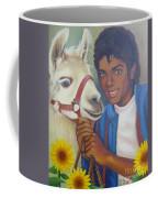 Happy Michael Jackson With His Pet Llama  Coffee Mug