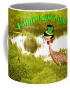 Happy New Year Card Coffee Mug by Adele Moscaritolo