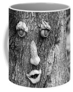 Happy Tree In Black And White Coffee Mug