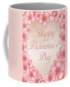 Happy Valentine Pink Heart Coffee Mug