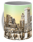 Harbor Lights From Federal Hill - Drawing Fx Coffee Mug